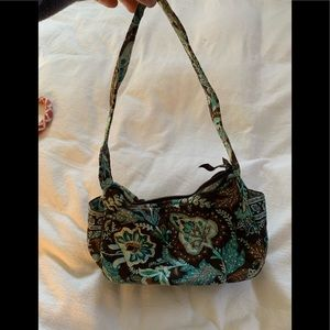 Vera Bradley blue and brown handbag